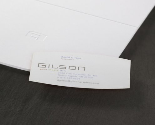 Gilson Business Card Detail