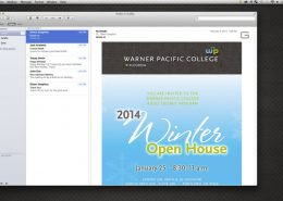 Warner Pacific College Email Campaign
