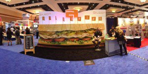 globalshop, sandwich, acrylic, large format, integrated, booth, exhibit, design, creative, Tonic