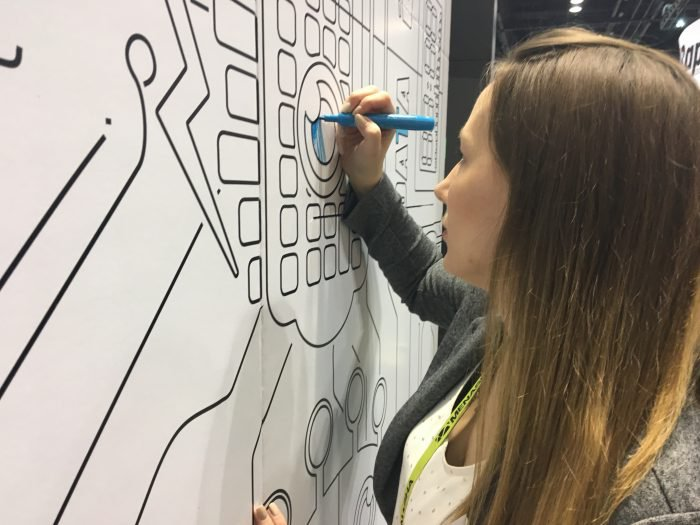 Award Winning Trade Show Booth, Coloring Wall